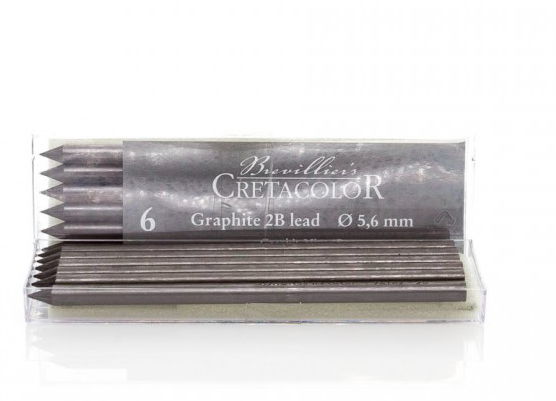 Graphite 2B, d-5.6mm, 6pcs
