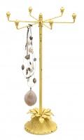 kollane vintage metallist ehtehoidja, 44.5cmH